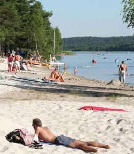 pláže Máchova jezera
